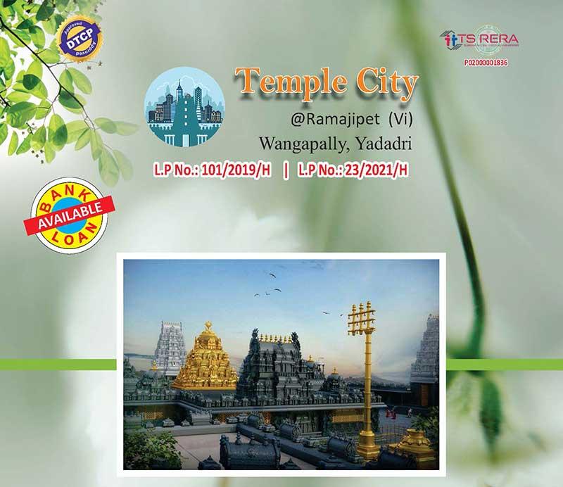 Temple City DTCP at Ramajipet, Wangapally, Yadadri