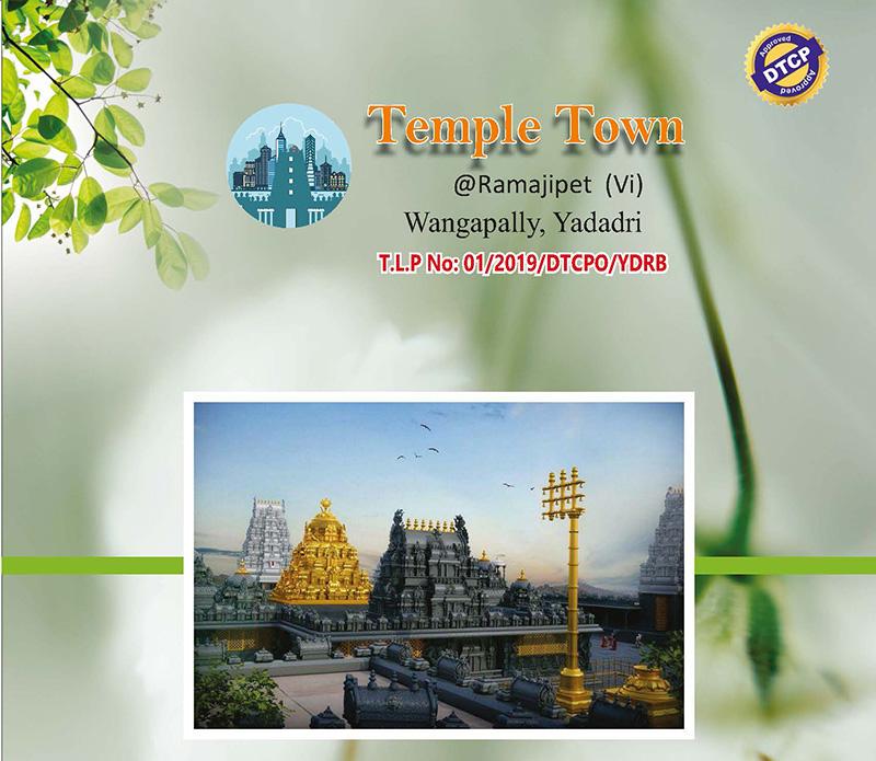 Temple Town DTCP at Ramajipet, Wangapally, Yadadri